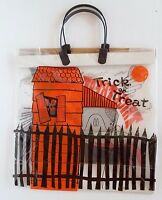 """Vintage Halloween Trick Treat Bag 1980's Never Used 13"""" Witch House Plastic"""