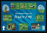 Bloc Feuillet 2007 N°110 Timbres France Neufs - Coupe du Monde de Rugby 2007