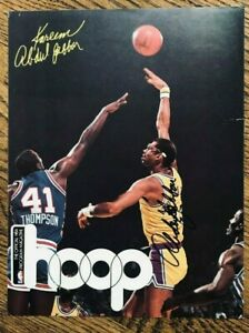 Kareem Abdul Jabbar, Lakers, Signed Hoop Magazine Page, 8-1/2 x 11, Basketball
