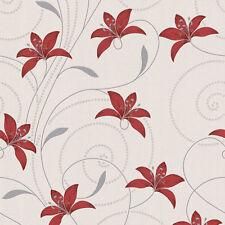 Rollos de papel pintado A.S. Création color principal rojo
