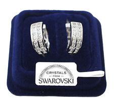 Orecchini da donna pl oro bianco 18K Cerchio zirconi cristalli swarovski SW4/2