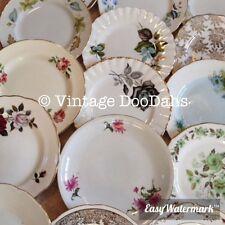 Job Lot Of 50 Vintage Mismatching China Side Plates - Tea Parties