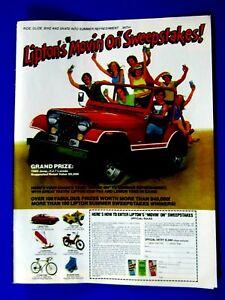 "1995 Jeep Wrangler Cherokee CF Original Print Ad 8.5 x 10.5/"""