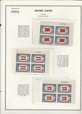 U.S. Sc.#909 - #921 Overrun Nations Name Blocks+ MNH Mounted Cat.$50.34 (LR375)