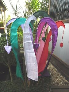 Bali Flags Umbul Umbuls approx: 1.4m with bamboo pole (varieties)