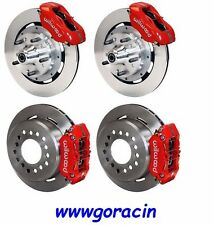 WILWOOD DISC BRAKE KIT,1955-1957 CHEVY 150,210,BEL AIR,4 Piston RED CALIPERS
