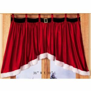 Velvet Christmas Decorative Curtains Tab Top Style for Window Kitchen Cabinet Do