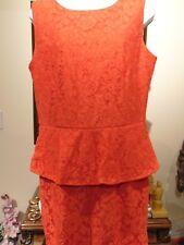 Frank Lyman Burnt/orange Laced Drape Sleeveless Dress Lined Women's Size 12