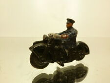 DINKY TOYS 37B MOTOR CYCLIST POLICE - BLUE - GOOD CONDITION