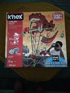 K,nex T-Rex Fury Roller Coaster Building Set Thrill Rides