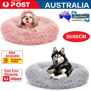 Dog Bed Self Warming Couch Faux Fur Donut Cuddler Comfy Better Sleeping Mat