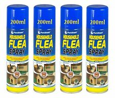 4x Household Flea Spray Home Animal Cats Dogs Carpet Soft Furniture Bed 200ml