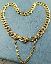 "James Avery 14k Light Double Curb Charm Bracelet 8"" New"