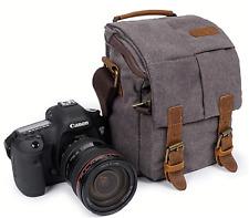 New Vintage Canvas Camera Case Shoulder Crossbody Bag For DSLR Canon Nikon Sony