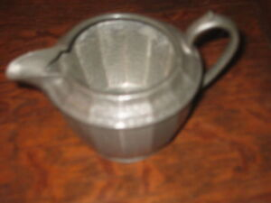 COLLECTIBLE LIGHTLY HAMMERED PEWTER JUG  DISPLAY  FLOWERS ADD  TO OTHERS