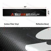 Windshield Carbon Fiber Banner Decal For Mitsubishi EVO Ralliart Eclipse Sticker