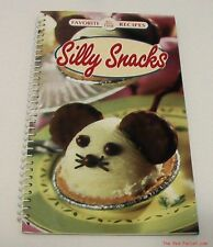 Brand new spiral bound cookbook for kids Silly Snacks colorful recipe book NEW