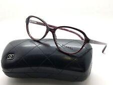 CHANEL Bordeaux Red Stripe Frame Glitter ch 3316 1517 52MM