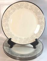 "Lenox Snow Lilly Dinner Plates 10 3/4"" PLATES - SET OF 4 BONE CHINA Dinnerware"