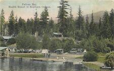 1908 Pelican Bay Health Resort Oregon Hand Colored Portland Postcard 7567