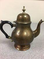 Hammered Brass Tea Pot