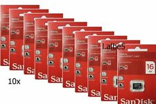 10x SanDisk 16GB Micro SD SDHC 16G Memory Card Class 4 Retail Lot of 10pcs
