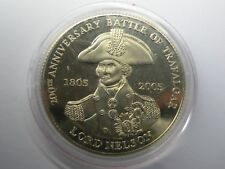 1 Crown Lord Nelson 200 Years Anniversary Battle Of Trafalgar Queen Elizabeth UK