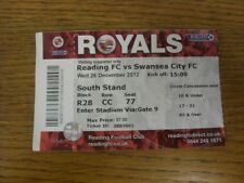 26/12/2012 Ticket: Reading v Swansea City  . Thanks for viewing this item offere