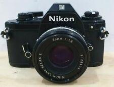 Nikon EM 35mm Film SLR Camera + 50mm f/1.8 Series E Pancake Lens.