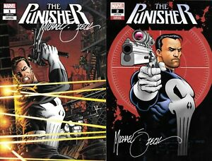 Punisher #1 & 2 EXCLUSIVE VARIANT SET signed Mike Zeck includes COA 1 of 3000
