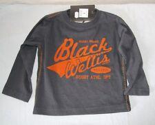 ORIGINAL tee shirt ML BLACK WELLIS GRIS ORANGE TAILLE 6 ANS NEUF