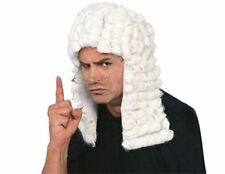 Colonial Judge White Wig Barrister Court King Costume Mens Revolution