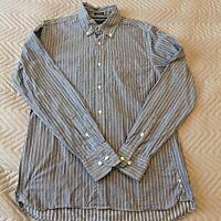Tommy Hilfiger Men's Shirt Size S/P 14.5-15 Custom Fit Blue Long Sleeved Striped