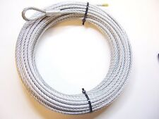 "Galvanized Wire Rope Winch Cable 1/4"", 7x19, 100 ft"