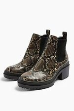 Topshop BRIXTON Snake Chelsea Boots 7/40 BNWOB