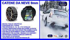 CATENE DA NEVE 9 mm  215/50-17 R17 OMOLOGATE Ö-Norm 5117, TÜV RV-80 + valigetta