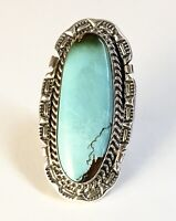 Native American Sterling Silver Navajo Indian Royston Turquoise Ring Size 7