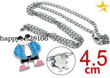 Undertale Sans Papyrus Red Heart Necklace Keychain+Box Gift Metal Pendants Otaku