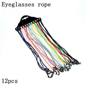 Multicolor Eyewear Nylon Cord Reading Glass Neck Strap Eyeglass Holder 12Pcs