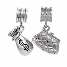 Rhona Sutton Sterling Silver Handbag Purse & Coin Bag Charm Beads
