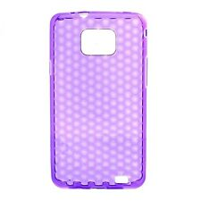 Housse Coque Etui Samsung Galaxy S2 silicone gel Protection arrière - Violet