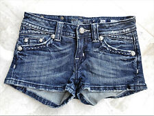 Miss Me Jean Shorts - JW5306 - White Rope Stitch w/ Feathering - Size 26