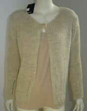 cardigan donna un bottone giacca corta in maglia invernale manica lunga TG M