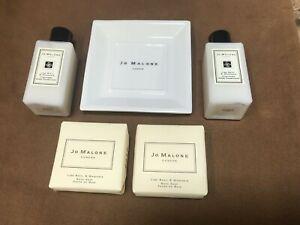 JO MALONE 2 BATH SOAPS 2 CONDITIONER LIME BASIL MANDARIN BOUTIQUE 1 SOAP DISH