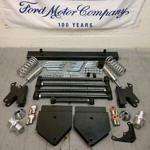 1957-60 Ford F Series Deluxe BOLT IN Parallel Rear 4-Link Kit w/ Coilovers F100