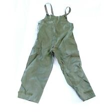 Vtg Us Military Wet Weather Large Overalls Pants Bib