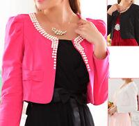 New Women Ladies Party Shrug Cardigan Long Sleeve AU Size 10 12 14 16 18 20 8169