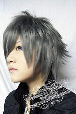 159 New Short Dark gray Cosplay Party Wig