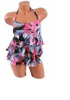 Island Escape Women's Tiered Bandini Top Multicolor Floral Print Size 8