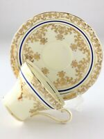 Vintage Aynsley Gold Accent Bone China England Teacup and Saucer R179